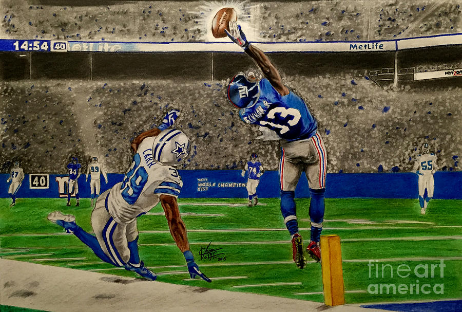 Odell Beckham Jr Catch Drawing 900x607