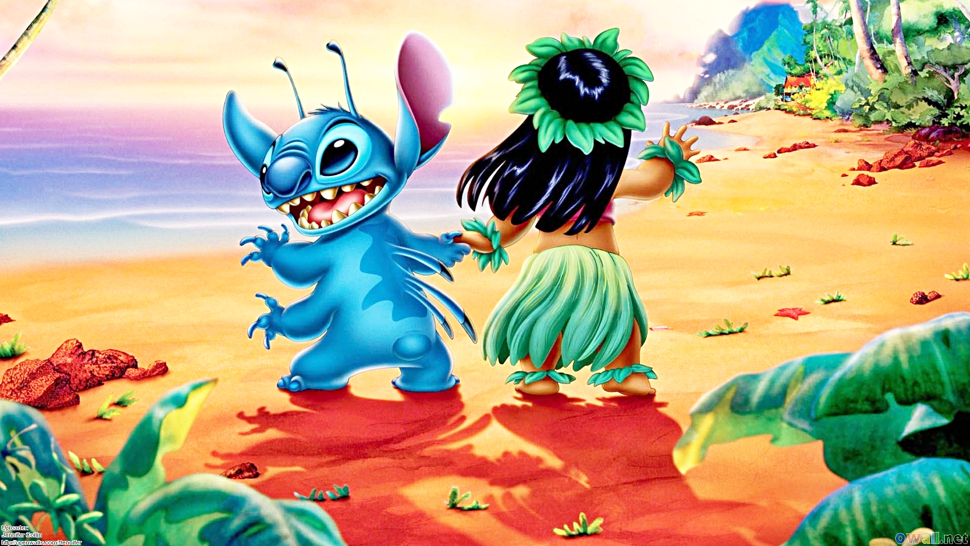 Walt Disney Wallpapers Stitch Lilo Pelekai walt disney characters 1920x1080
