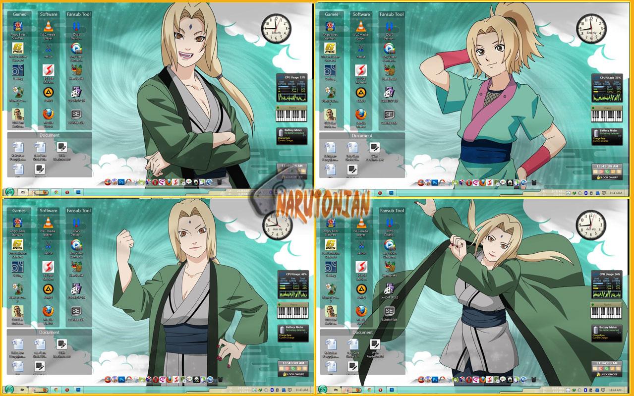 Naruto Theme   Tsunade Windows 7   aLif Maghriza 1279x799