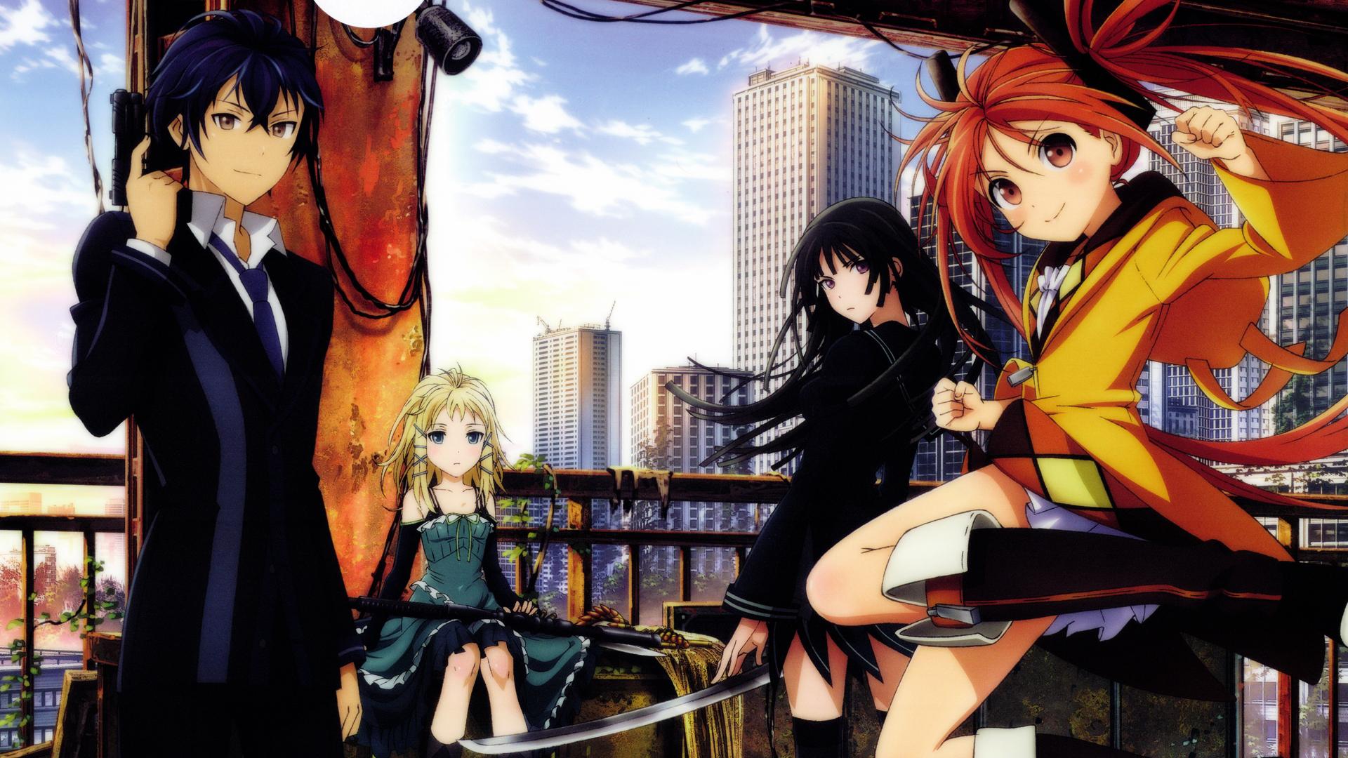 tendo enju aihara black bullet anime hd 1920x1080 1080p wallpaper 1920x1080