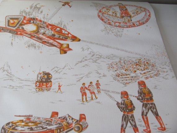 Free Download Vintage Star Wars Era Wallpaper Unopened Roll Sale By Whaleback 570x428 For Your Desktop Mobile Tablet Explore 47 Star Wars Vintage Wallpaper Star Wars Landscape Wallpaper Star