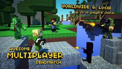 Pixel Gun 3D Minecraft style Android apk game Pixel Gun 3D 505x285