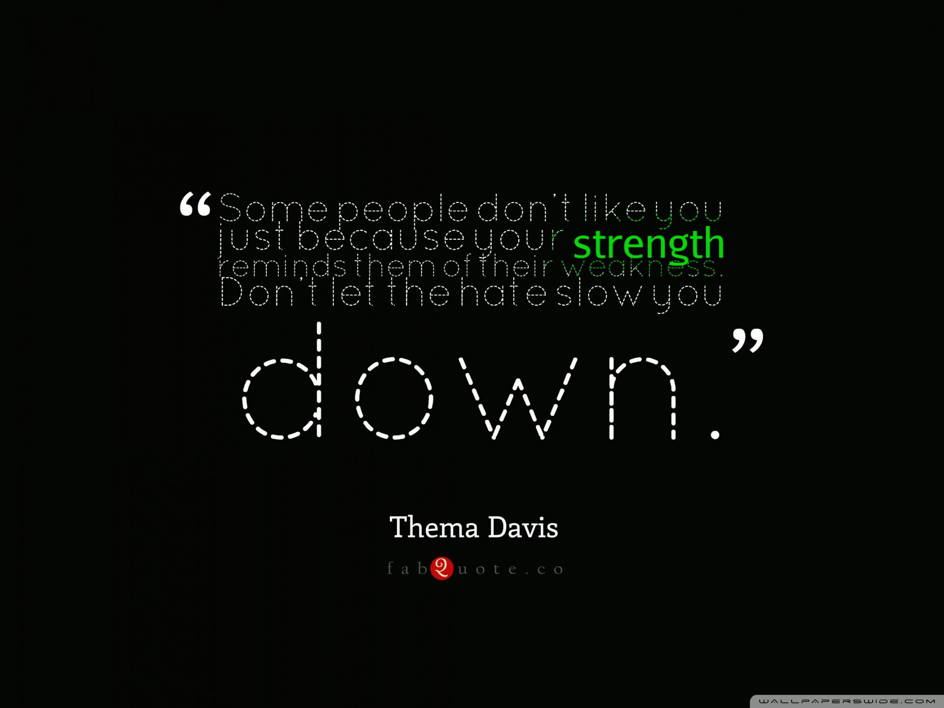 Thema Davis   Quote about Strength and Weakness 4K HD Desktop 1920x1440
