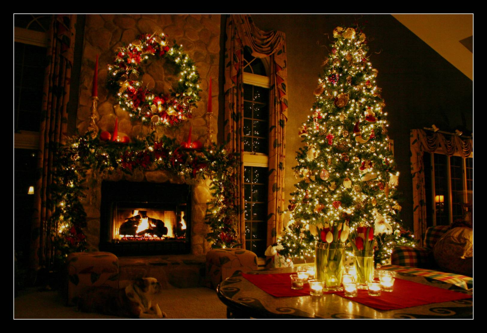 Christmas Fireplace Backgrounds 1626x1114