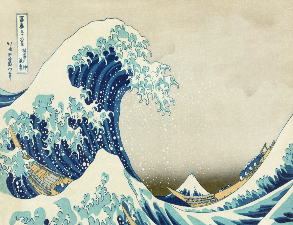 wave off Kanagawa also known as The Great Wave or simply The Wave 1024x786