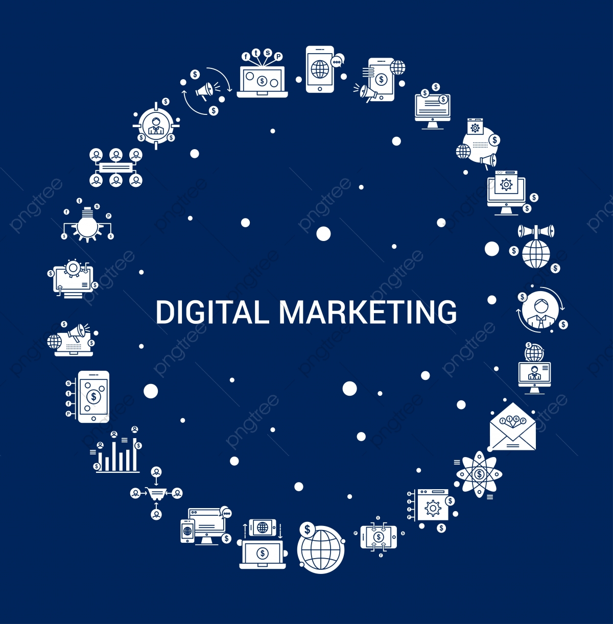 Creative Digital Marketing Icon Background Announce World Wide 1200x1222