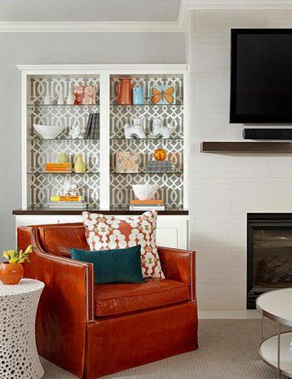 Ideas to Use Modern Wallpaper for Storage Furniture Decoration 425x550
