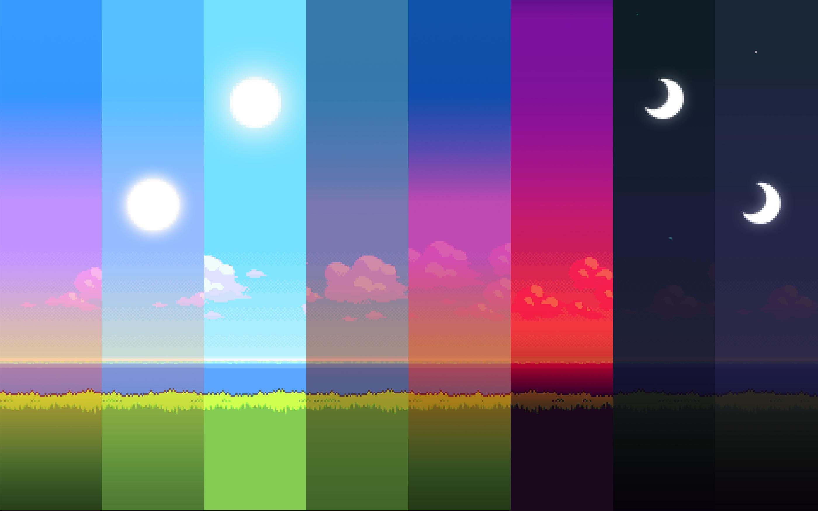 8 bit pixel art wallpaper