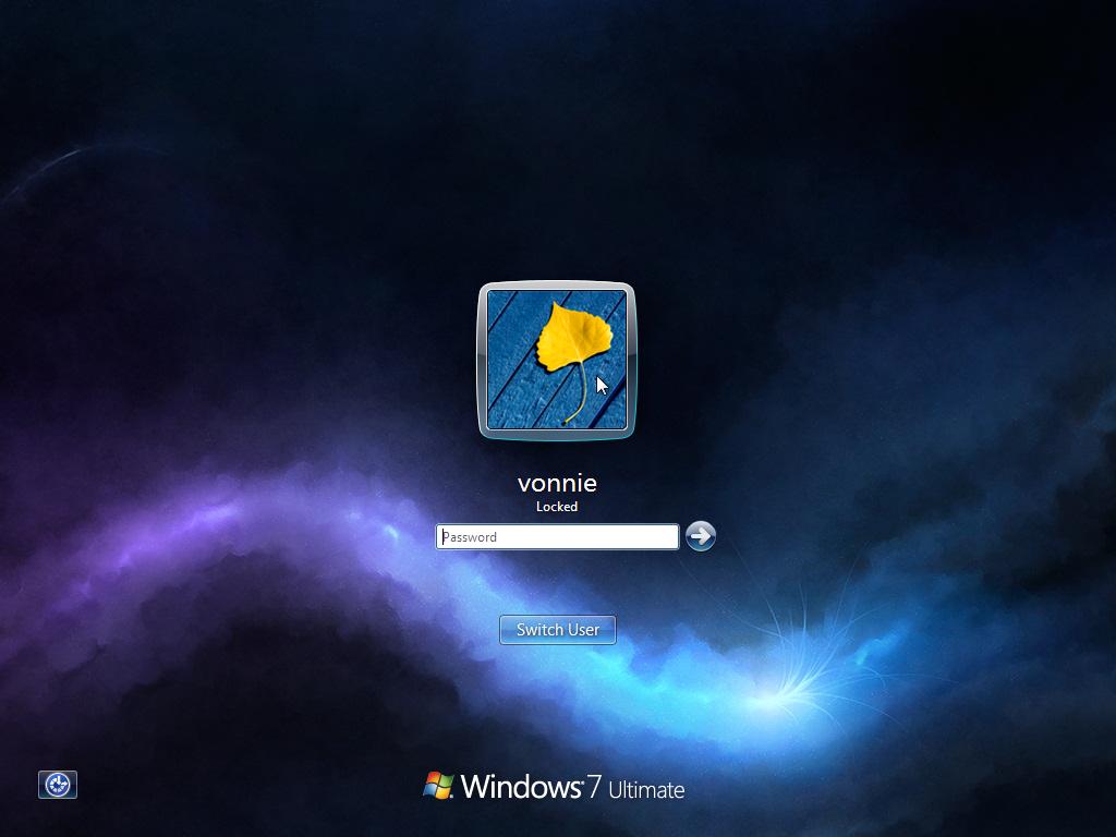 Windows 7 Default Logon Screen Background 1024x768