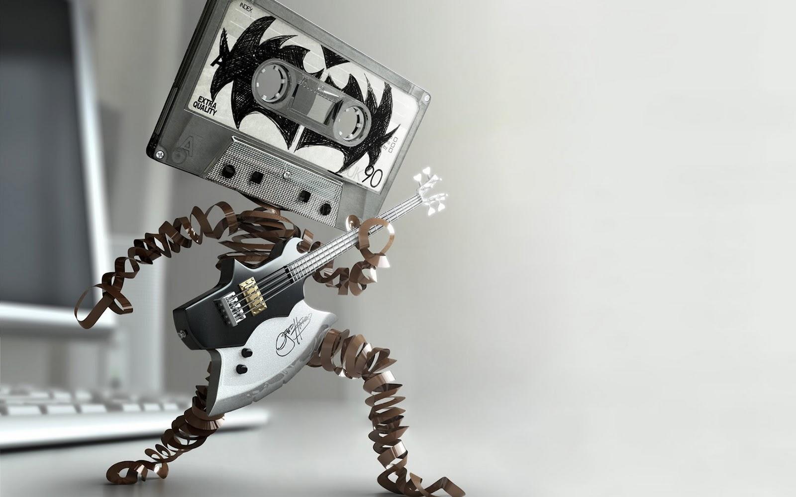 Guitar Wallpaper   Cassette Rock Electric Guitar Axe Music 1680x1050 1600x1000