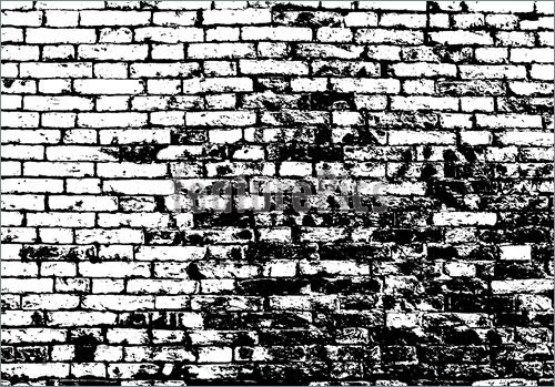 Grunge white and black brick wall background Vector illustration 500x349