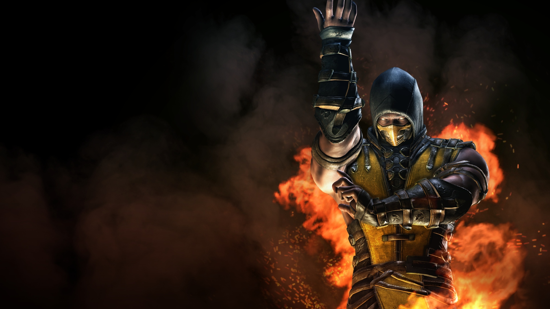 scorpion flame mortal kombat x wallpaper 1920x1080 1920x1080