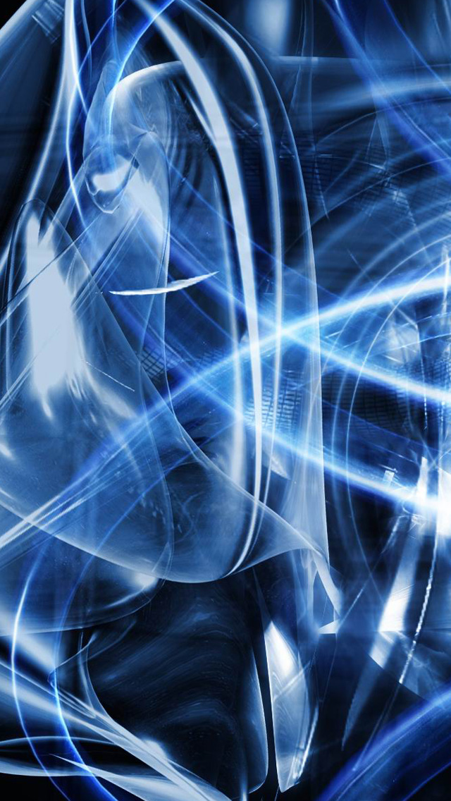 Blue abstract art iPhone 5 wallpapers Background and Wallpapers 640x1136