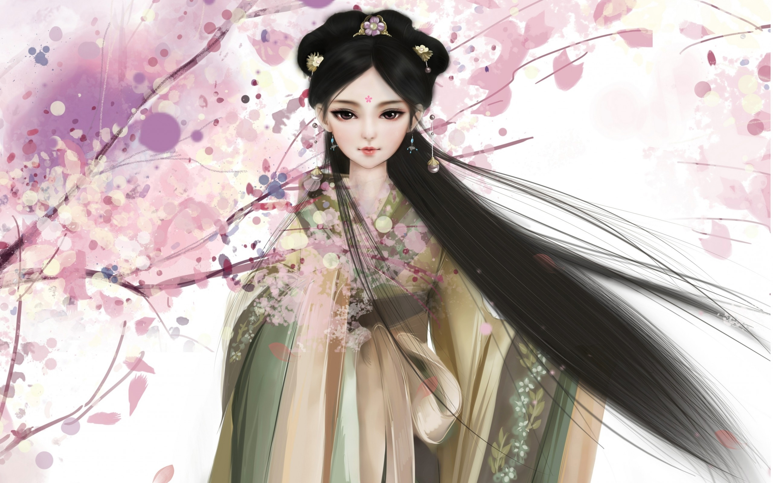 Beautiful geisha wallpaper 29502 2560x1600