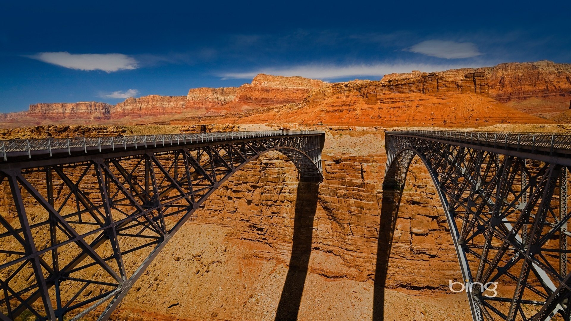 Wallpaper 1920x1080 bridges canyon height engineering Full HD 1080p 1920x1080