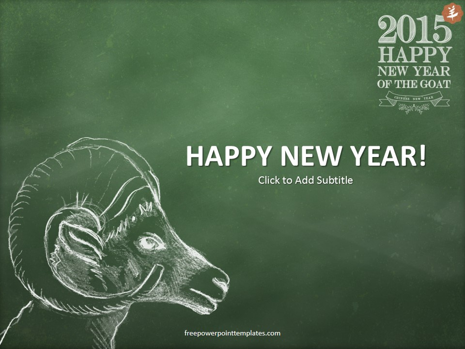 Happy New Year 2015 PowerPoint Template 960x720
