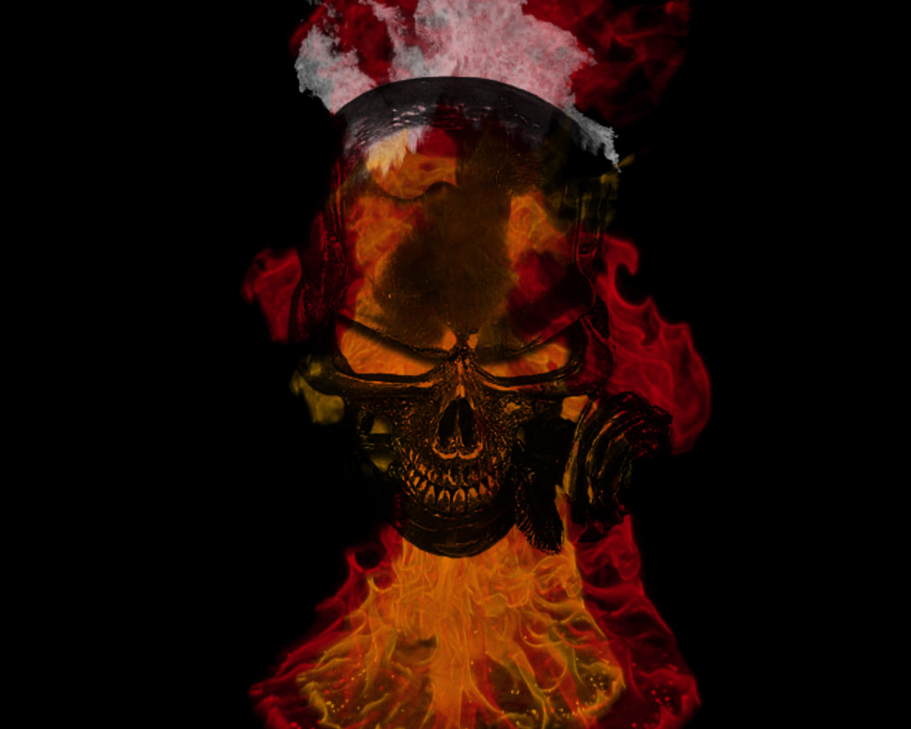 Flaming Skulls Wallpaper Flaming skull 1280x1024