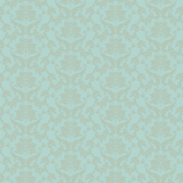 Printable miniature blue and beige damask wallpaper in dolls house 600x600
