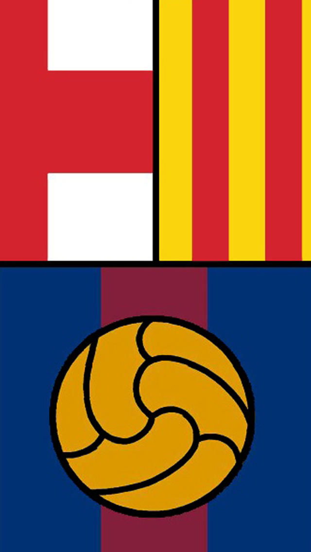 FC Barcelona   iPhone 5 Wallpaper by diorgn 640x1136