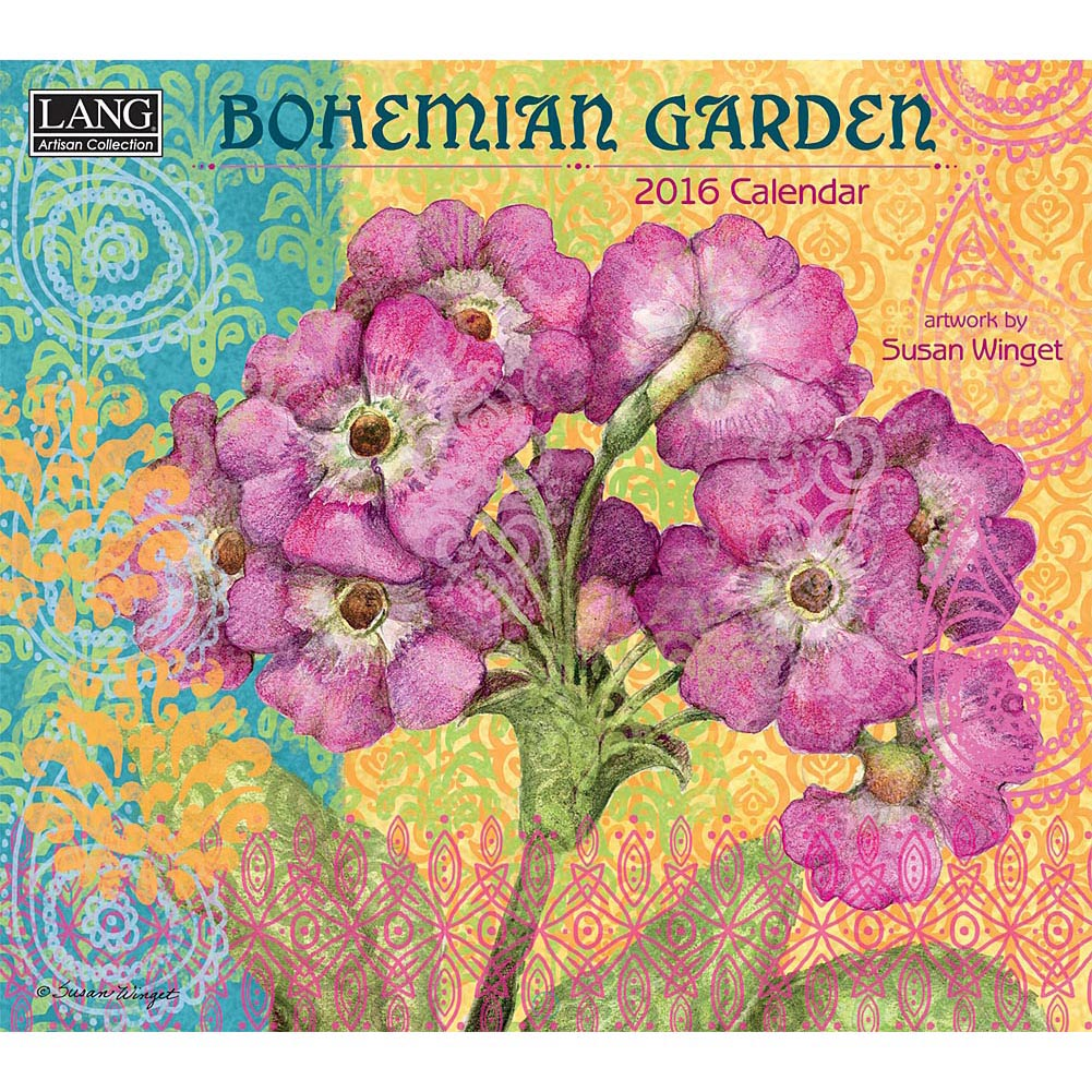 Susan Winget Bohemian Garden 2016 Wall Calendar 1001x1001