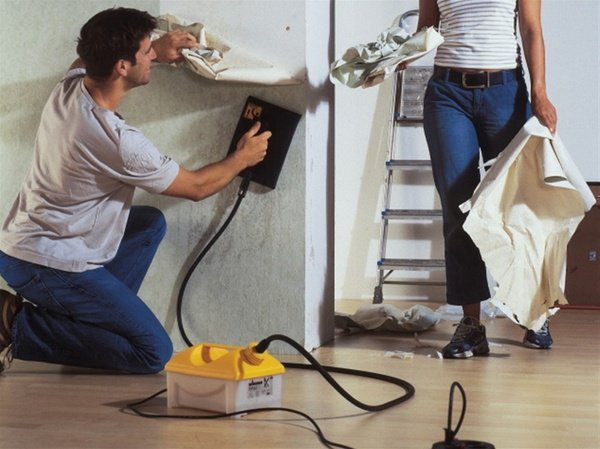DIY wallpaper removal ideas steam machine how to use it 600x449