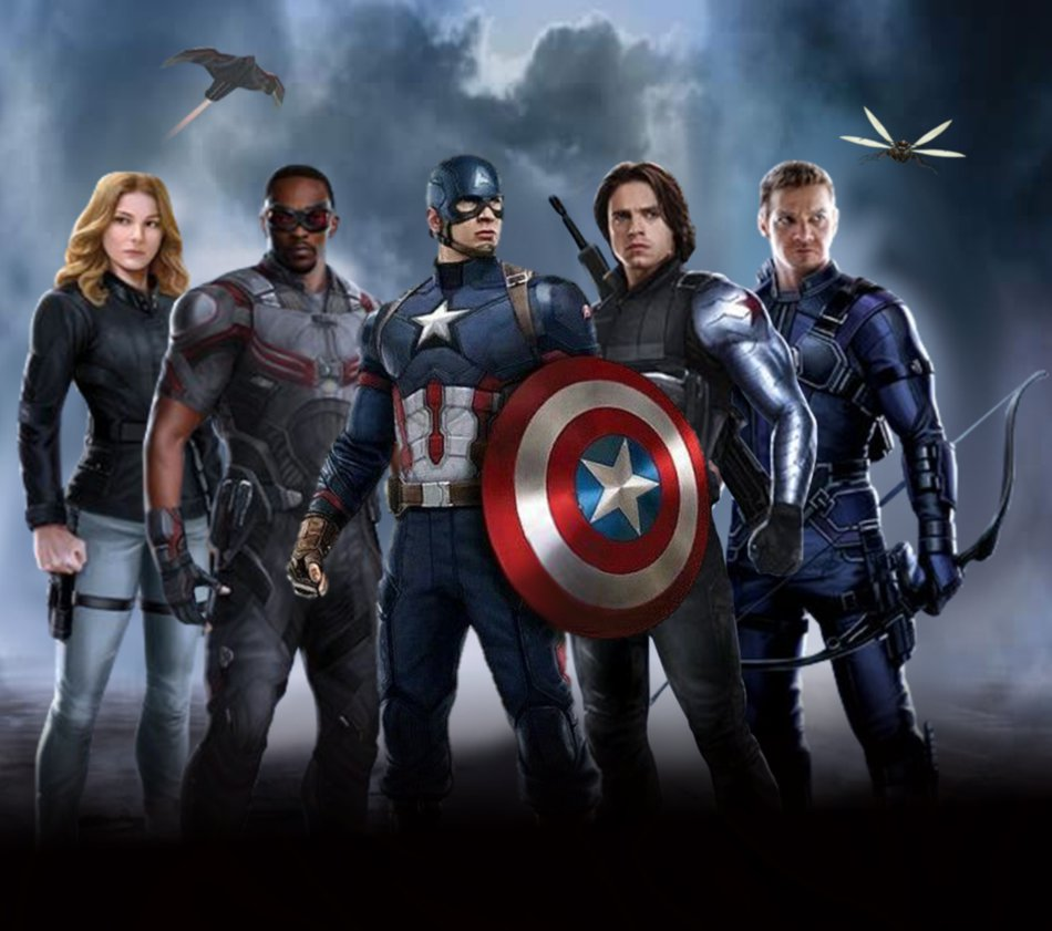 Captain Americas team by ArkhamNatic 950x841