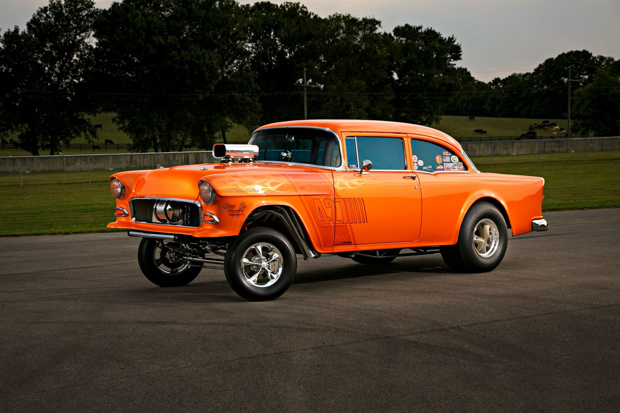 1955 Chevrolet Chevy 210 Coupe Gasser Drag OLd Style Race USA  24 2040x1360