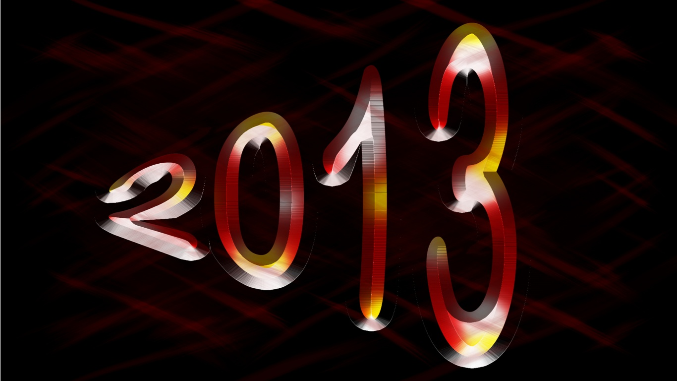 Download New Year Windows 7 background hd Wallpaper in high resolution 1366x768