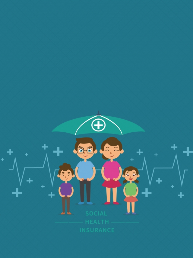 Simple Social Medical Insurance Background Minimalistic 640x854