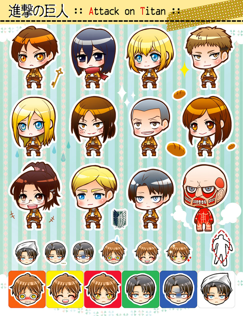 Free Download Attack On Titan Chibi 01 By Moonu17 784x1019 For
