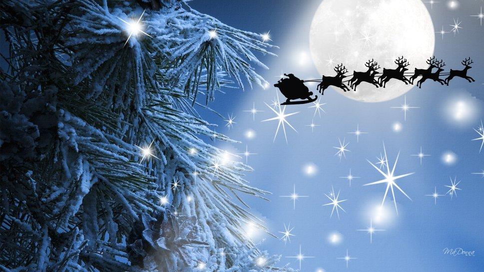 Santas Flight Wallpaper   ForWallpapercom 969x545
