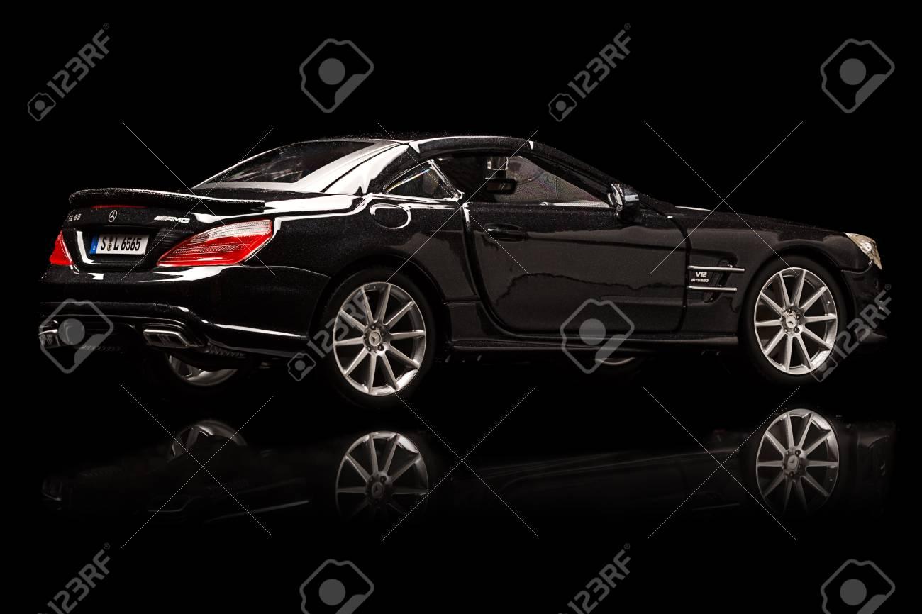 Stuttgart Germany APR 04 Mercedes SL 65 AMG On Black Background 1300x866