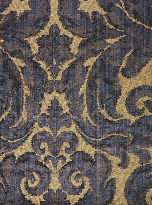 Navy Blue And Gold Wallpaper Brocatello fabric navy blue 534x721