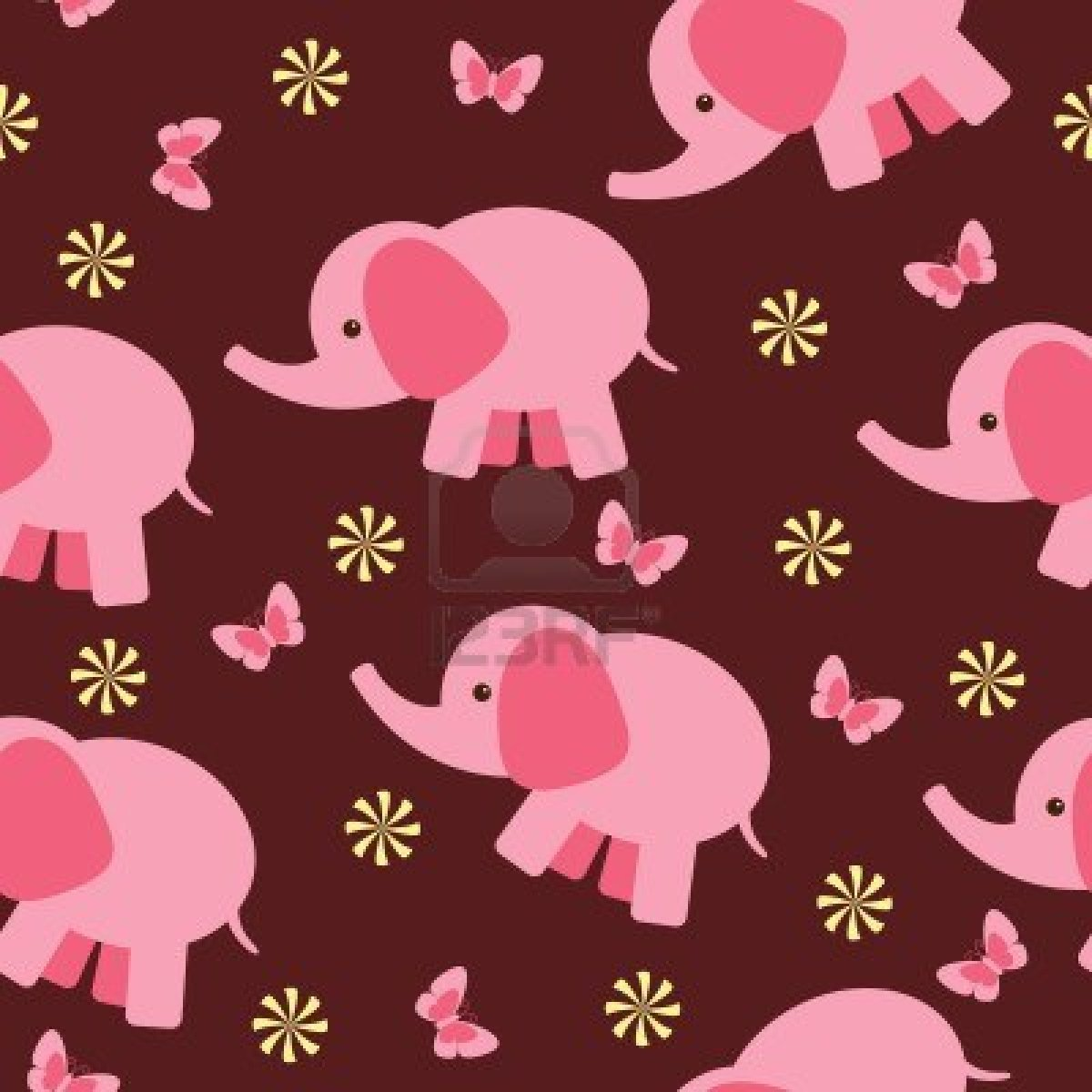Images Of Cute Elephant Pattern Wallpaper Art