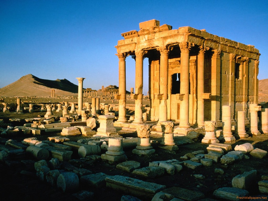 Palmyra Ruins Syria wallpapers Freshwallpapers 1024x768