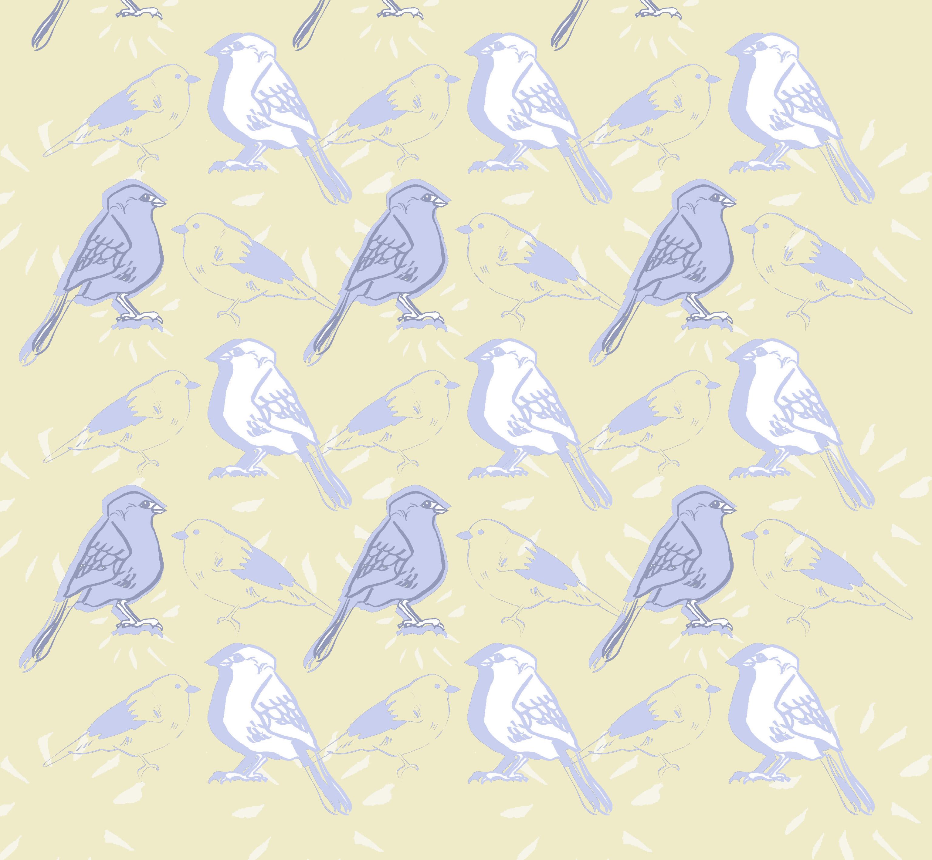 Bird Pattern Wallpaper 3071x2835