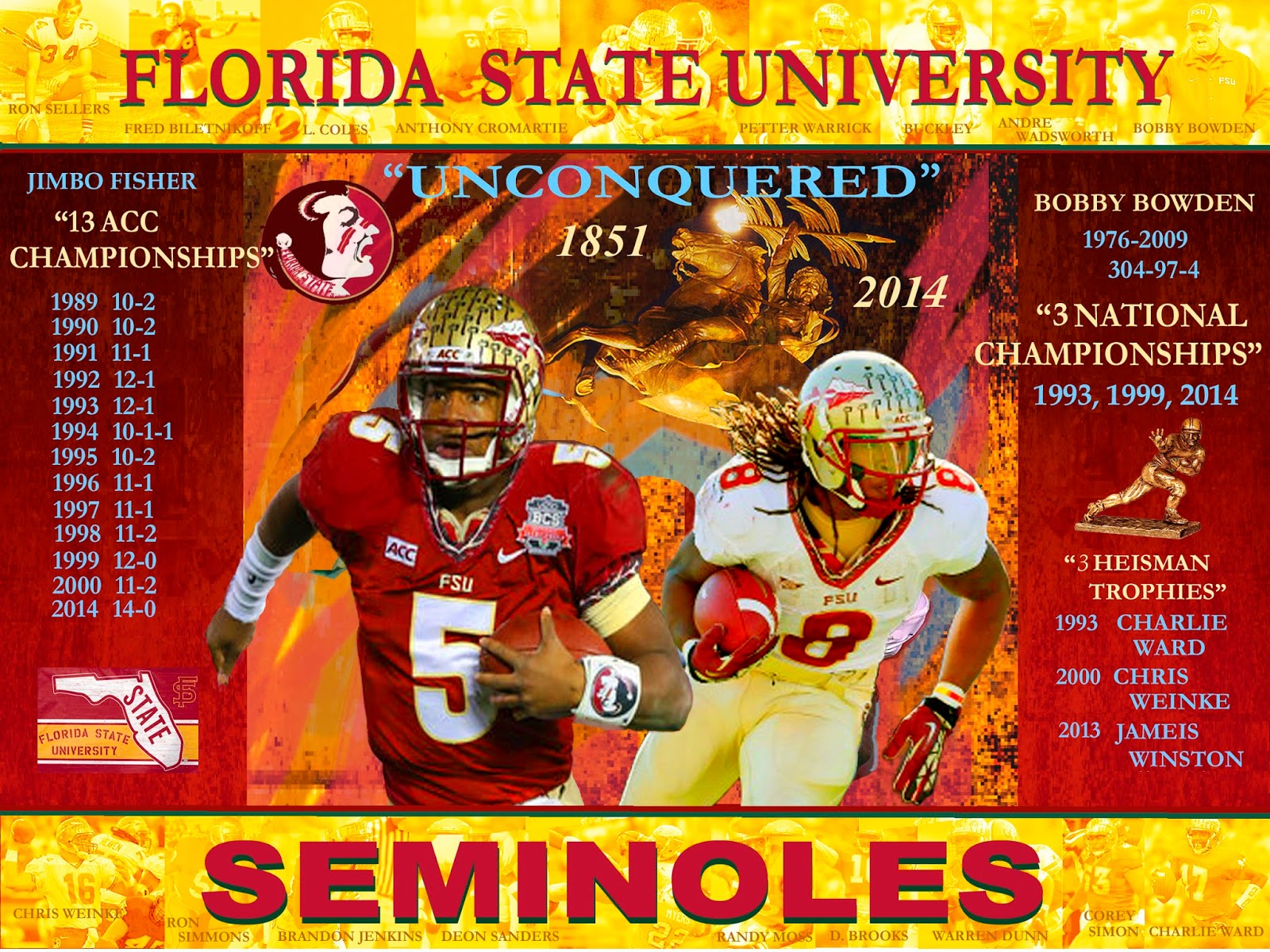 art of h edward brooks Florida State Seminoles 2014 National Champs 1600x1200
