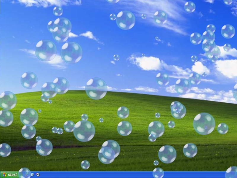how to put bubbles on your desktop