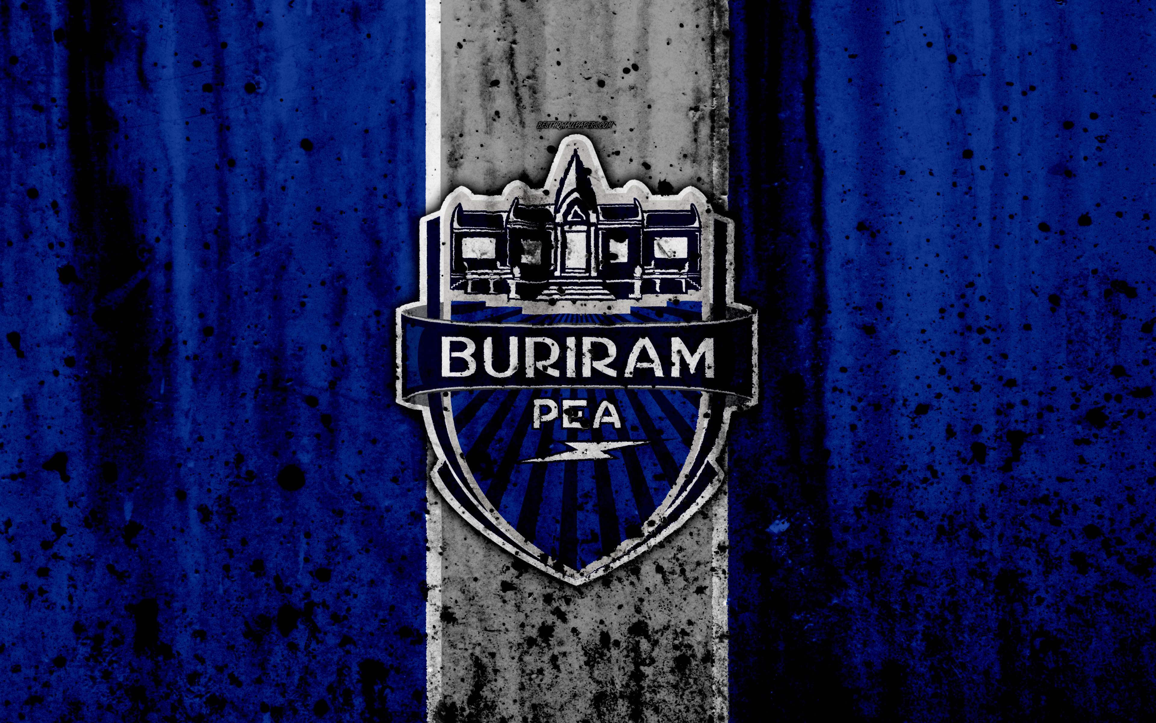 Download wallpapers 4k FC Buriram United grunge Thai League 1 3840x2400