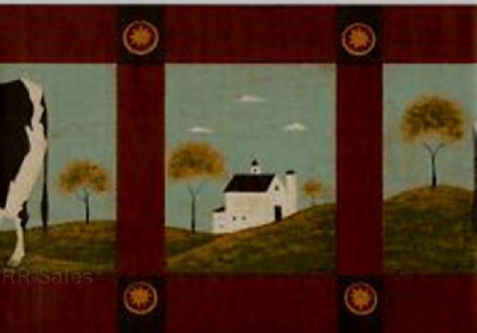 Free Folk Art Country Barn House Warren Kimble