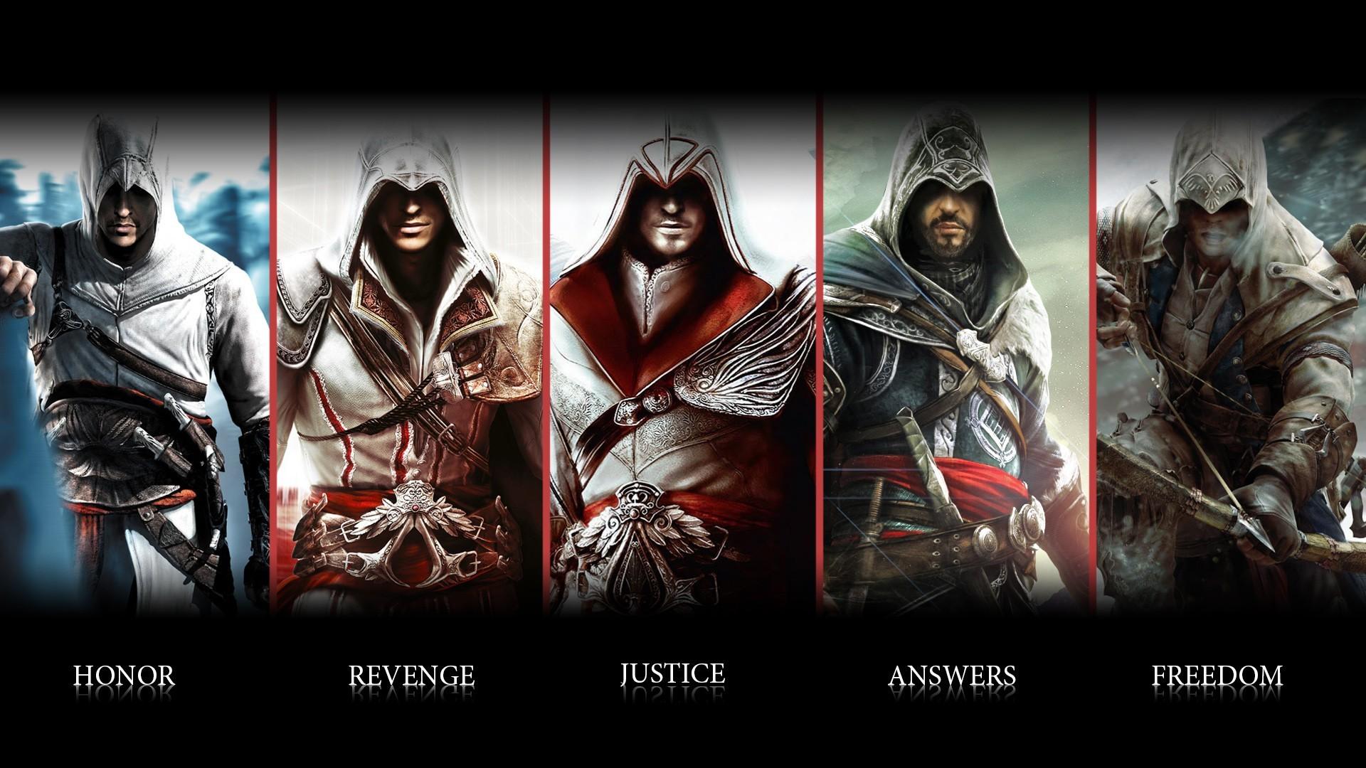 connor Altair ubisoft animus assassin blade weapon warrior wallpaper 1920x1080