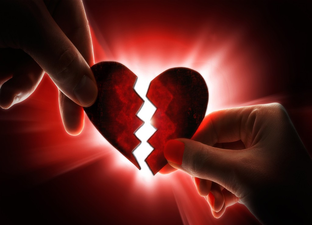 broken heart two part heart wallpaperjpg 1024x739