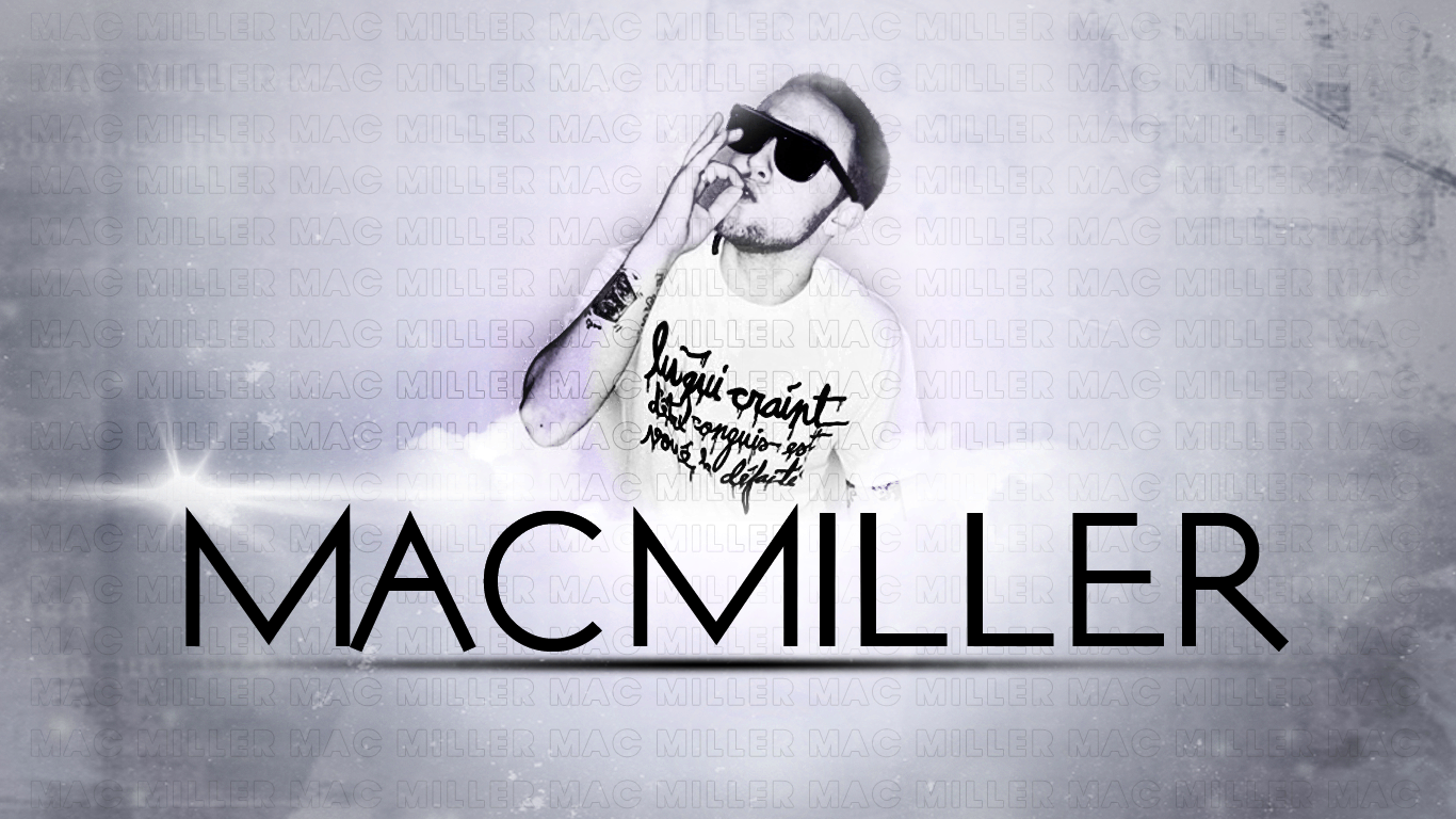 Download Mac Miller Name 3 background for your phone iPhone android 1366x768