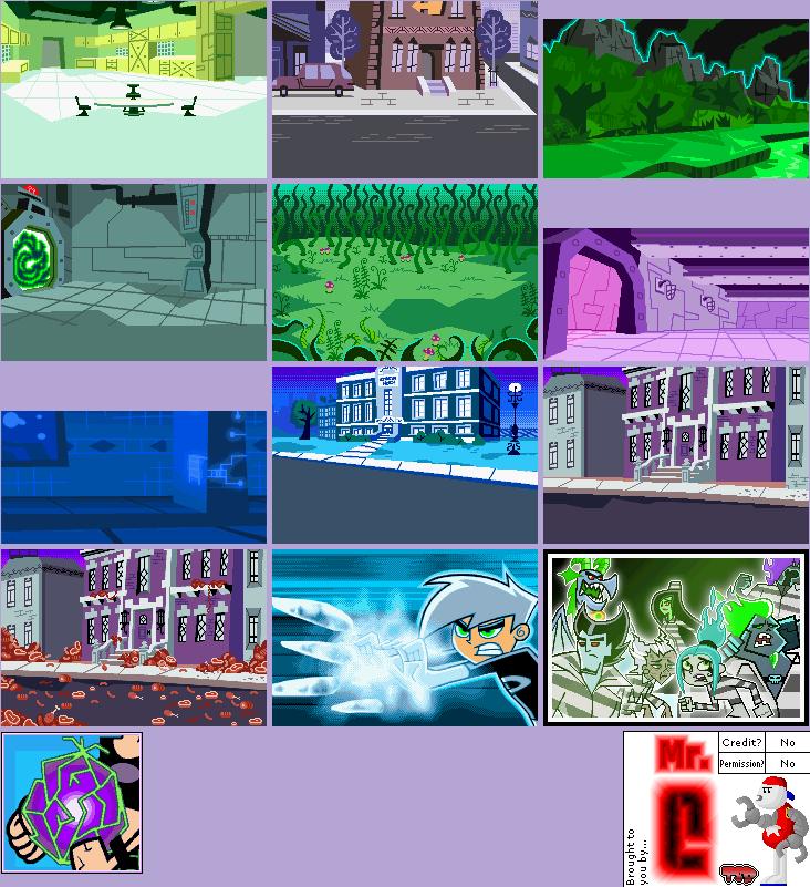 Game Boy Advance   Danny Phantom Urban Jungle   Story Backgrounds 732x801