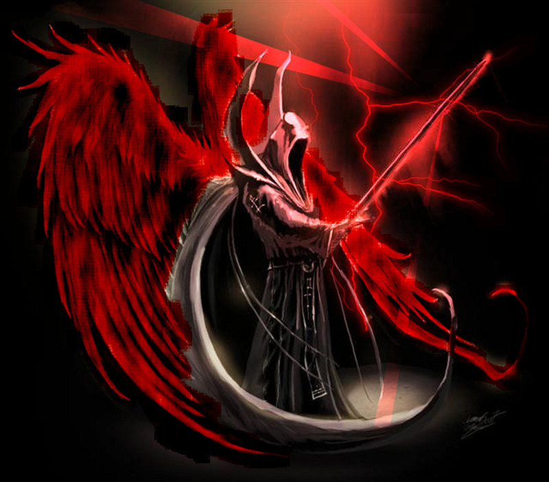 Lucifer Malaikat: Black Angel Devil Wallpaper