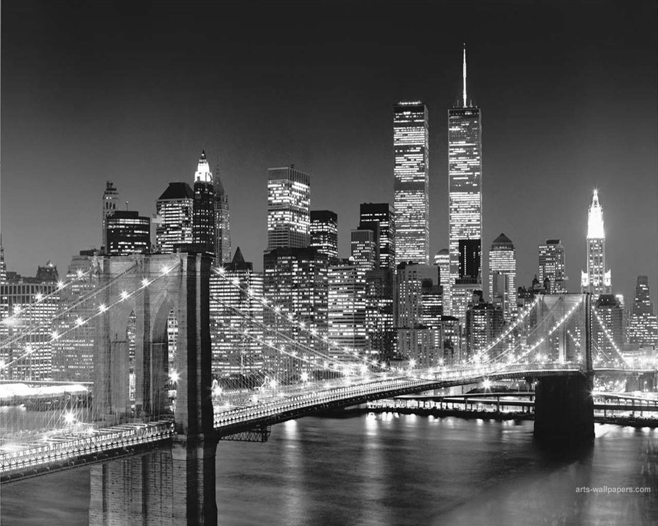 Free Download New York Wallpaper Black And White 1280x1024