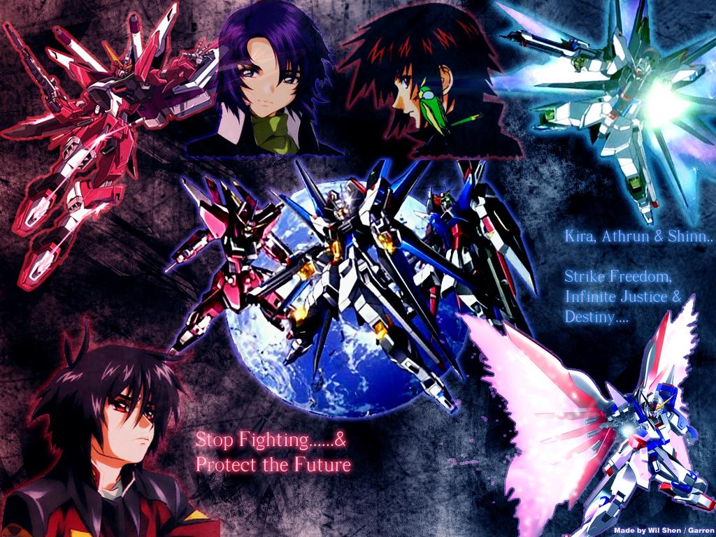 Gundam Seed Destiny Wallpaper by Garr3n 1024x768
