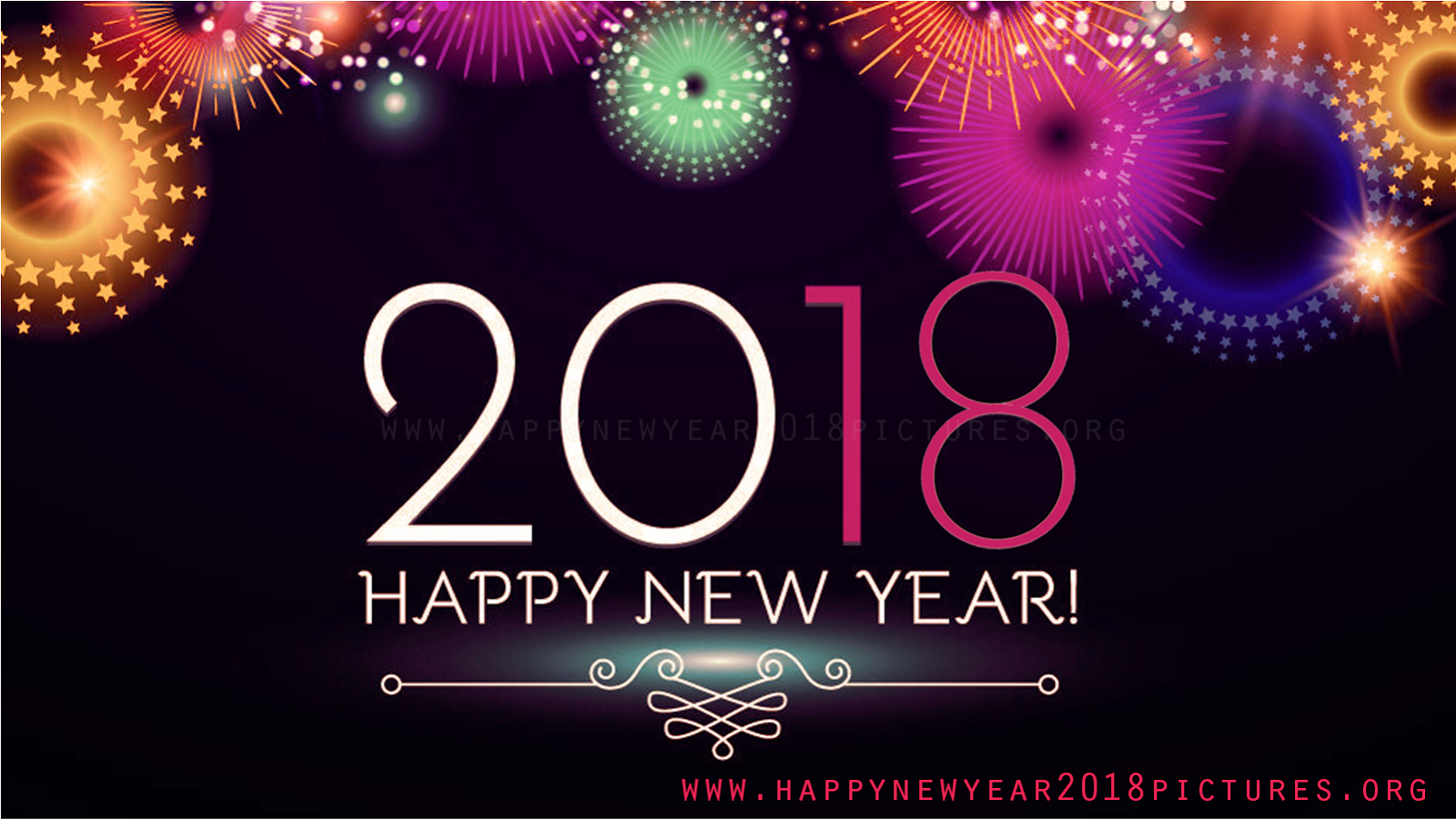 happy new year 2018 hd images photos wallpapers pictures 1600x900