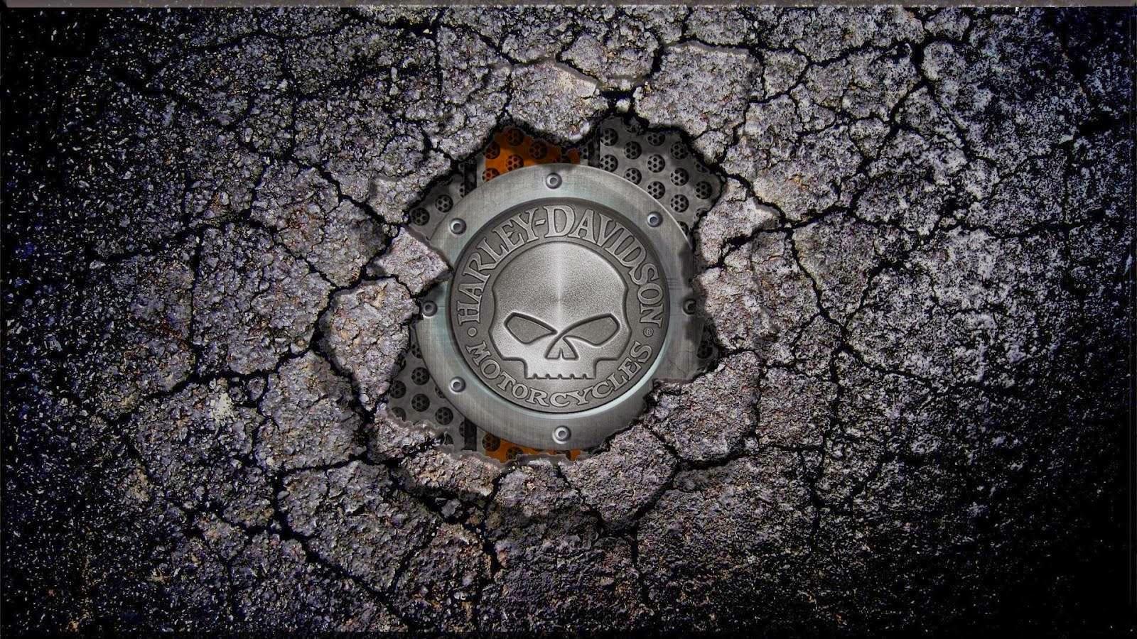 Harley Davidson Logo Wallpaper: Harley Skull Wallpaper