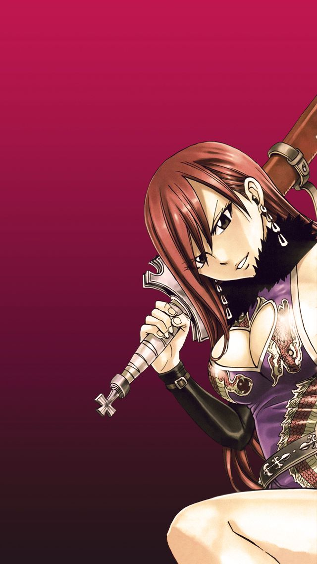 Fairy Tail Erza Iphone Wallpaper 640x1136